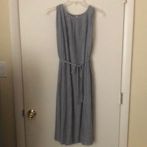Light grey pleated dress from Uniqlo